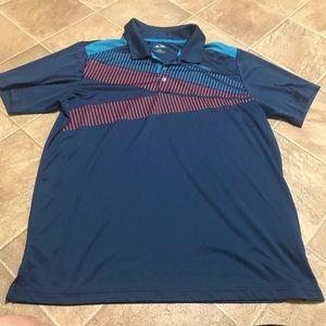 Men's adidas blue golf shirt